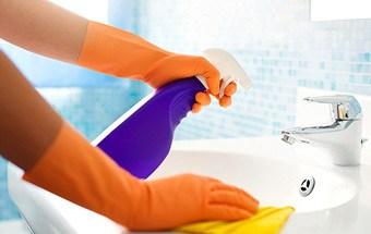 nettoyage de la salle de bain